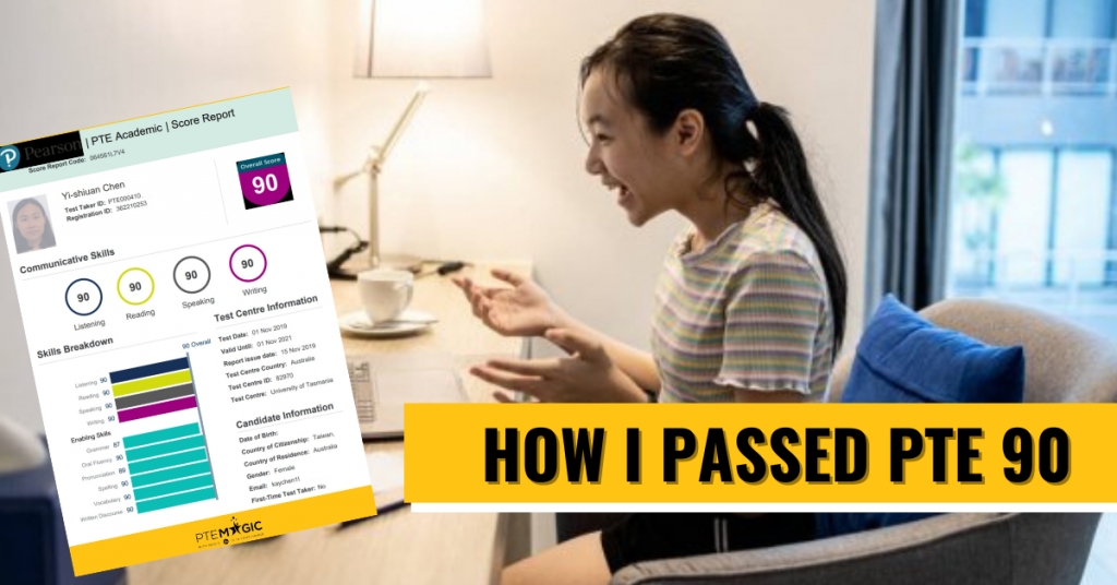 I passed 90 PTE Speaking 我如何PTE四項滿分, Listening, Reading and Writing